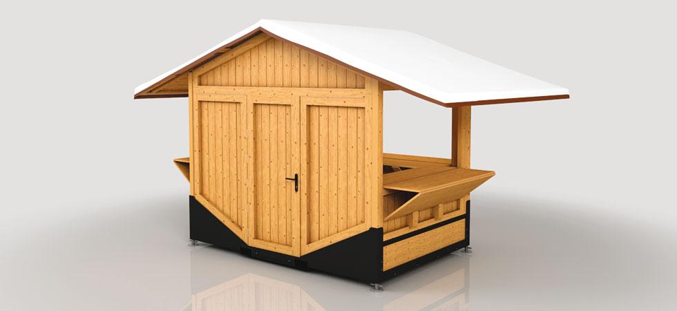 Rapid Folding Systems - Casette in legno pieghevoli per eventi